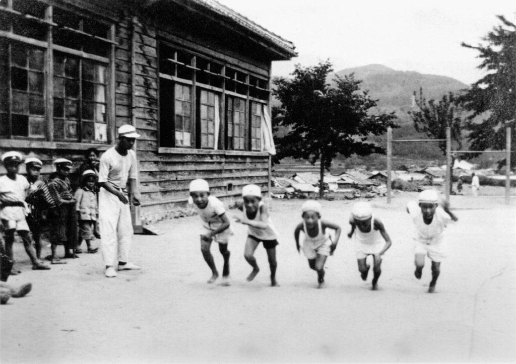 落合小学校体操風景